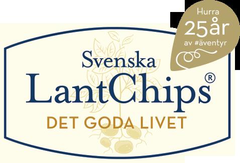 Svenska LantChips 25 år, logotyp